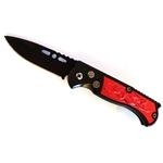 Couteau automatique 15,8cm cran d'arrêt compact rouge.