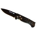 Couteau automatique 15,8cm cran d'arrêt compact noir.