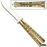 Couteau papillon doré, balisong - KS202GD