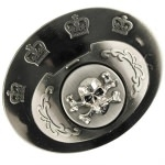 Boucle de ceinture avec poing américain - gris squelette2