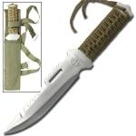 Poignard acier de survie + étui - Couteau WG976
