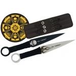 Pack couteaux de lancer + cible 37cm - Squelette XL1510