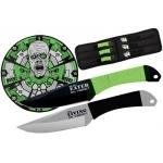 Pack couteaux de lancer + cible 37cm - Zombie XL1531
