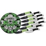 Pack couteaux de lancer + cible 37cm - Zombie XL15312