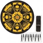 Pack couteaux de lancer + cible 37cm - Squelette XL15102