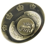 Boucle de ceinture + poing américain - Scorpion doré2