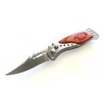 Petit couteau automatique, métal et bois - C02