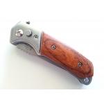 Couteau automatique 15cm métal et bois - C012 (1)