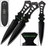 3 Couteaux Zombie Killer de lancer - WG868