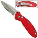 Petit couteau automatique 12cm métal - rouge WG940