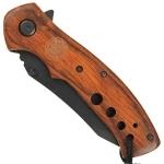 Couteau Fire Dept manche bois - WG9412