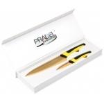 Coffret Pradel Evolution 2 couteaux - jaune C8218