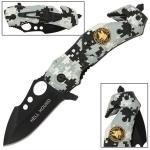 Couteau arctique 15,5cm camouflage - WG923