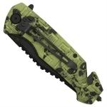 Couteau Zombie 21cm pliant - CH01033