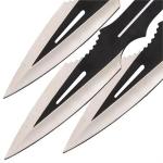 3 Couteaux de lancer 21,5cm - Couteau jet WG1183