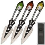 3 Couteaux lancer Joker - Couteau de jet WG121