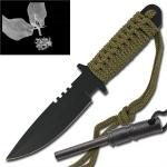Couteau survie + pierre allume feu - HK7525