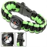 Bracelet paracorde survie + boussole, sifflet - AZ840