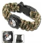 Bracelet paracorde survie + boussole, sifflet - AZ895