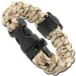 Bracelet paracorde survie + boussole, sifflet - AZ9062