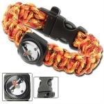 Bracelet paracorde survie + boussole, sifflet - AZ900
