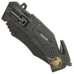 Couteau police multifonction LED métal - WG10462