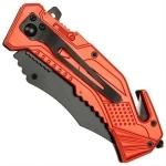 Couteau pompier multifonction LED métal - WG10523