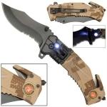 Couteau US Marines multifonction LED métal - WG1053