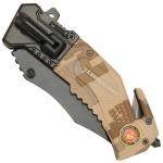 Couteau US Marines multifonction LED métal - WG10532