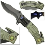 Couteau US Army multifonction LED métal - WG1049