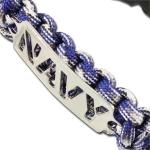 Bracelet paracorde survie + plaque métal Navy2 (2)