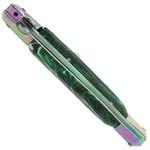 Grand couteau Italien 24cm automatique + étui vert3