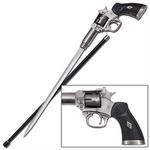 Canne épée 95cm de marche - métal revolver
