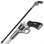 Canne épée 95cm de marche - métal revolver2
