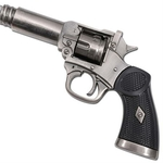 Canne épée 95cm de marche - métal revolver3