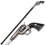 Canne épée 95cm de marche - métal revolver5