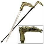 Canne épée 93cm de marche - métal cheval