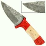 Poignard 22cm lame damas + étui cuir - couteau