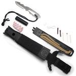 Pack poignard + couteau + fronde + kit survie2