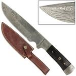 Poignard 28,5cm damas - couteau full tang