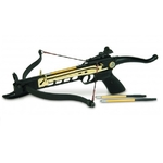 Arbalète pistolet 80 lbs doré + 3 flèches