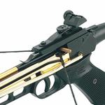 Arbalète pistolet 80 lbs doré + 3 flèches4