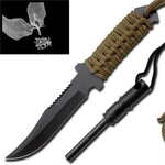 Couteau full tang + pierre allume feu