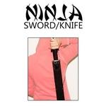 Katana Ninja 69cm + 2 kunais + étui - épée tanto3