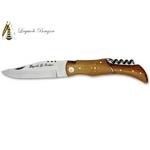 Couteau Laguiole chasse 21cm - bois de teck