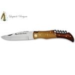 Couteau Laguiole chasse 21cm - teck et palissandre