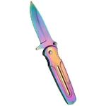 Couteau pliant rainbow - revêtement titane.