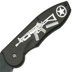 Grand couteau 23,5cm pliant - design fusil2