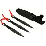 Pack 3 couteaux de lancer, couteau kunaï