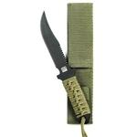 Couteau tactique 19cm militaire - full tang vert
